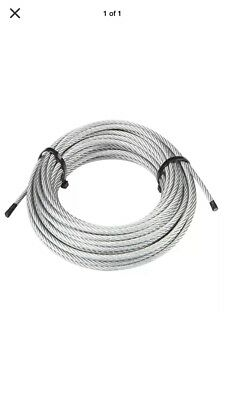"T-304 Grade 7 x 7 Stainless Steel Cable Wire Rope 1/8""- 50ft"