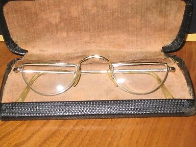 Vintage Algha 20 Half Eye Glasses With Metal Case* Excellent Condition
