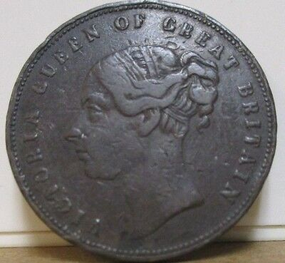 ND c1800s, UF-6350 - Unofficial Farthing - Ireland, Dublin - Burns & Co, Drapers