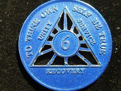 Alcoholics Anonymous Custom Cut-Out 6 Month Chip/ Handmade AA Medallions