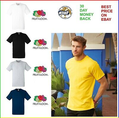 Men's 10 Pack Fruit of the Loom Heavy Cotton White Black And Colour T Shirts Tee