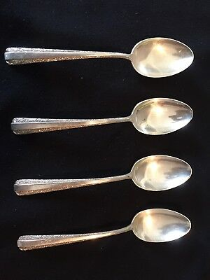Teaspoon  Lot Of 4Candlelight by Towle, Sterling Silver