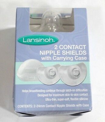 Lansinoh Contact Nipple Shields (x2) With Carrying Case 24mm