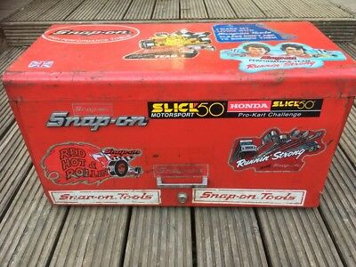 Snap On Tools Tool Top Box Storage Great Vintage Condtion Lovely Stickers
