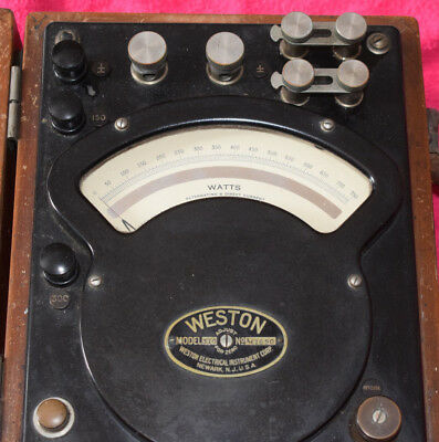 Vintage Weston Model 310 AC/DC Wattmeter - 1939