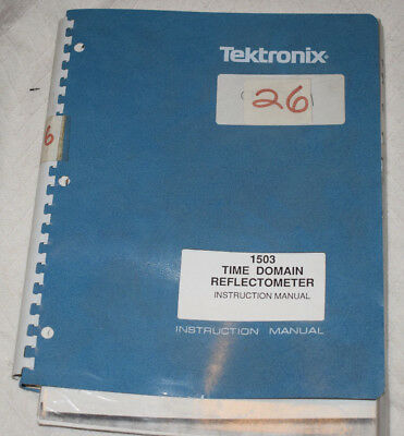 Tektronix 1503 TDR (Time Domain Reflectometer) Service Manual