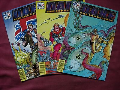 Dare the Impossible Fleetway Quality Comics 2000AD Issue 1-3 run Job Lot 1991 NM