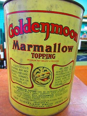 Goldenmoon  Marmallow Topping one gallon Container no top