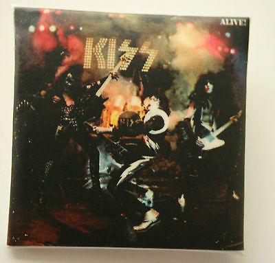 Kiss Alive! Original Vintage Square Abzeichen 40mm (Not Flicken CD LP Bluse )
