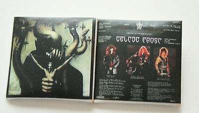 Celtic Frost To Mega Therion Original VTG Set of 2 Square Abzeichen 40mm/ma0039