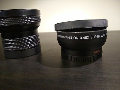Wide Angle Fish Eye And Macro Lens Attachments For 52mm Camera Lenses