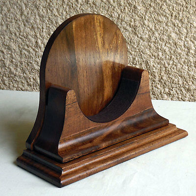 Vintage Old Style Walnut Wood Base For A 4.5 Inch Chelsea Clock