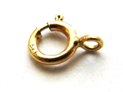 """9ct Yellow Gold Bolt Ring Clasp""""Open"""" Findings for Bracelet Necklace Catch .375"""