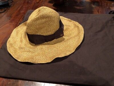ca75c561876 Gucci Women s Brown 309138  435 Wide Brim Floppy Interlocking GG Hat Small