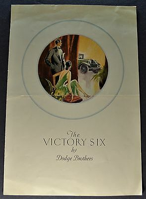 1928 Dodge Victory Six 6 Catalog Sales Brochure Nice Original 28