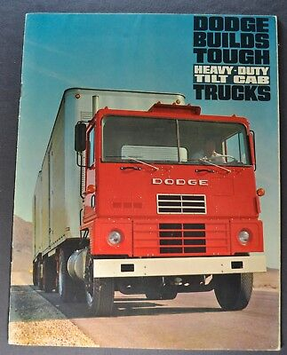1966 Dodge Heavy Duty Tilt Cab Truck Brochure COE Excellent Original 66