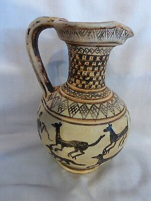 Pitcher Trefoil Mouth Oinochoe Hunting Scene with Foxes _ COPY