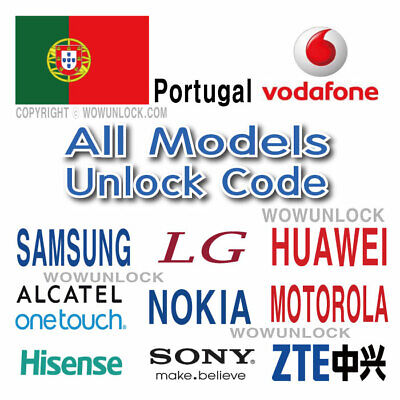 Vodafone Portugal Unlock Code Samsung LG Huawei Alcatel Sony ZTE All Model