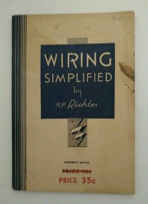 Wiring Simplified by H.P. Richter (1948, Paperback)