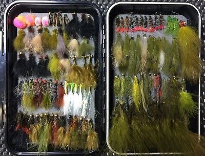 Trout Wet Fly Box Ultimate Selection. Woolly Buggers, Assasins, Fur Flies. C&F.
