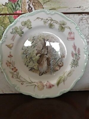 "Royal Albert Beatrix Potter Benjamin Bunny 8"" Plate From The Teatime Collection"