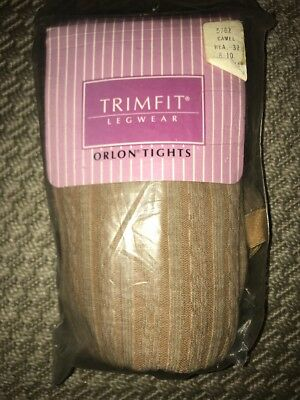 Vintage 80s Girls Trimfit Legwear Orlon Cable knit Tights - 8-10