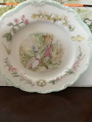 "Royal Albert Beatrix Potter Jemima Puddleduck 8"" Plate The Teatime Collection"