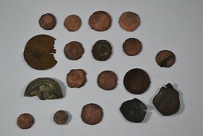 Lot of 18 Ancient Roman Bronze & Copper Coins