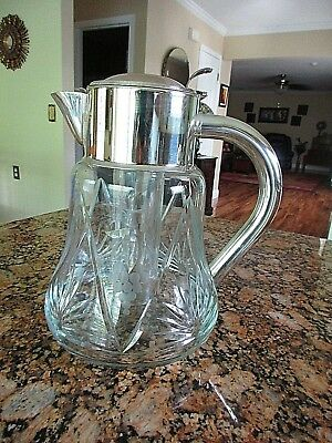 Vintage Large Crystal Pitcher & Ice Capsule EUC - Germany