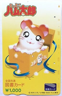 Lovely Cute RARE Hamtaro Used Book Card 1000 Hamster Anime Animation F/S JAPAN
