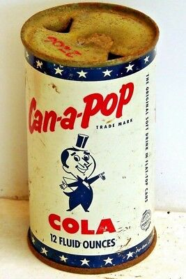 Can-A-Pop Cola; Sheridan, WY; flat top / solid top steel soda pop can