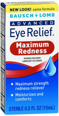 Bausch & Lomb Advanced Eye Relief Maximum Redness Reliver 0.5 Ounce Bottles