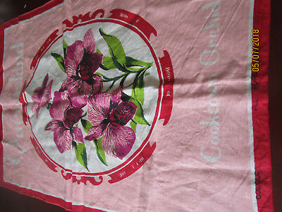 All Pure Linen Tea Towel Cooktown Orchid