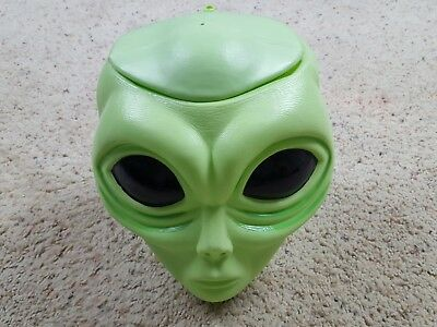 Vintage Alien Pops Head Store Display Bucket Container Suckers Lollipops UFO Art