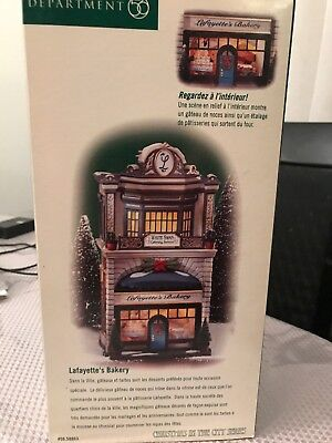 Dept 56 Christmas in the City Lafayette's Bakery #58953