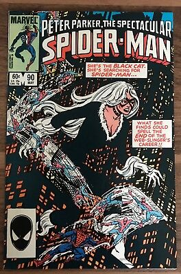 Spectacular Spider-Man 90.Classic Black Cat Cover. Venom Symbiote.High Grade NM-