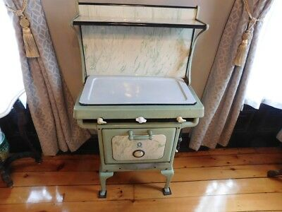 "Antique"" Cameo"" Gas Apartment Size 3 Burner Stove 1920's + Extras"