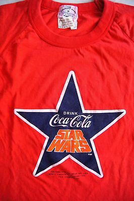RARE Japan Exclusive Stuff STAR WARS 1978 Coca-Cola Crown Lottery T-Shirt COKE M