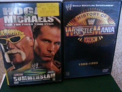 WWE Summerslam 2005 and The History of Wrestlemania DVD Lot