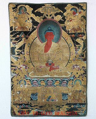 Thangka Tibet Collectable Silk Hand Painted Buddhism a9004
