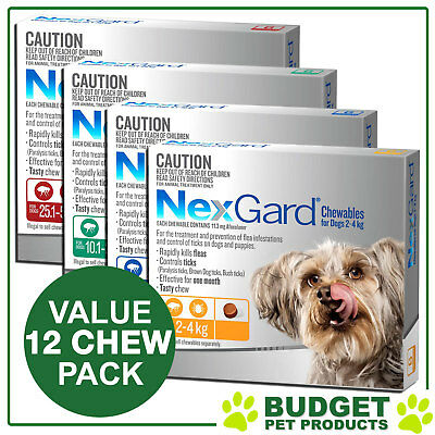 NexGard Nexguard Flea & Tick Treatment For Dogs - 12 CHEW VALUE PACK