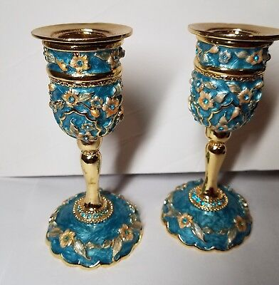 2 Candle Holders 4.5 inches KARSHI Original from Jerusalem COLLECTIBLE DECOR