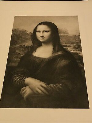 The Gallery Masterpieces Mezzotints Doubleday Lithograph Mona Lisa Renaissance