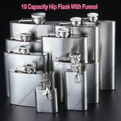 Stainless Steel Hip Flask Whiskey Flask Wine Alcohol Bottle Pocket Gift K629