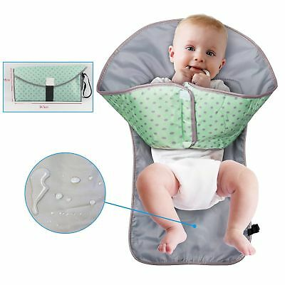 Waterproof Baby Diaper Clean Hands Changing Pad 3-in-1 Folding Diaper Mat