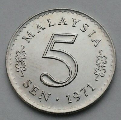 Malaysia 5 Sen 1971. KM#2. Five Cents coin. Parliament House.