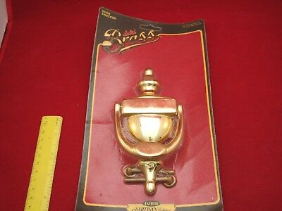 Large Solid Brass Door Knocker Nice Vintage Look  -NOS
