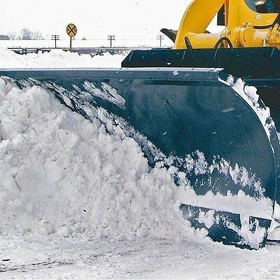 """Snow Blade 84"""" Fits Large Skid Steers to 20,000 lbs,Hydraulic Angle 35 degrees"""