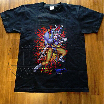 Capcom Street Fighter 16 Bit Pixel Chun Li Mens Crew Neck
