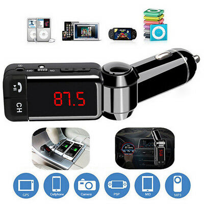 Wireless Bluetooth Car Kit FM Transmitter Handsfree Car Charger MP3 Player USB #